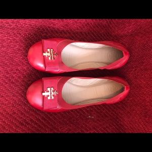 Tory Burch Red ballet shoes